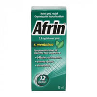 AFRIN 0.5MG/ML S MENTOLEM NAS.SPR.SOL.1X15ML/7.5MG