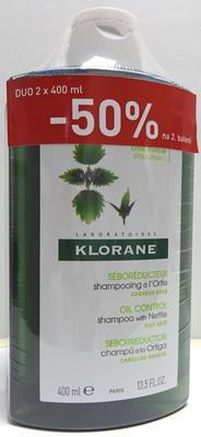 Klorane kopřiva šampon 400ml DUOPACK