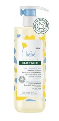 Klorane Bebe gel douche - sprchový gel 500ml DUOPACK