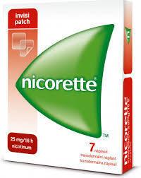 Nicorette Invisipatch 25mg/16h tdr emp 7x25mg - 1
