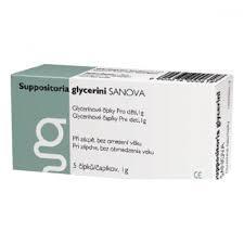SUPP.GLYCERINI SANOVA GLYCERÍN.ČÍPKY DĚTI 1G 5KS - 1