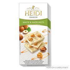ČOKOLÁDA HEIDI GRAND´OR WHITE HAZELNUTS 100G - 1