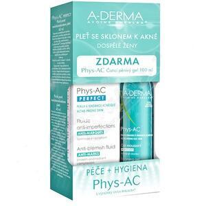 A-DERMA Phys-AC PERFECT 40ml+Čis.gel 100ml+Global 5ml - 1