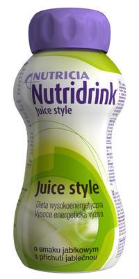 NUTRIDRINK JUICE STYLE JABLKO POR.SOL.4X200ML