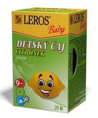 LEROS BABY Dětský čaj Citrónek n.s.20x2g
