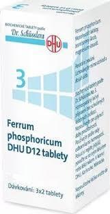 No. 3 Ferrum phosphoricum DHU D12 tbl.nob.200 - Schüsslerovy soli - 2