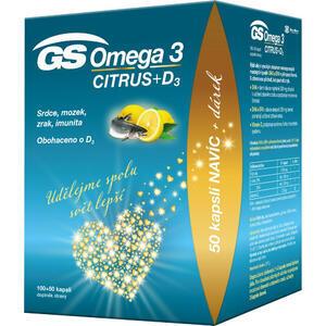 GS Omega 3 Citrus+D cps.100+50 dárek 2021 ČR/SK - 2