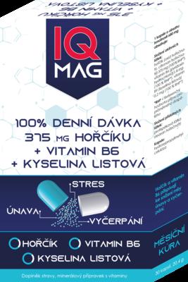 IQ Mag 375mg hořčíku+B6+kyselina listová cps.30 - 2