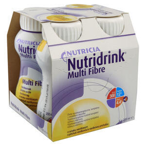 NUTRIDRINK MULTI FIBRE VANILKA POR.SOL. 4X200ML - 2
